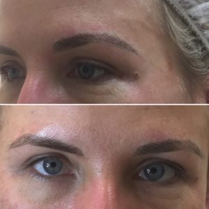 Beautiful and natural, microblades brows...